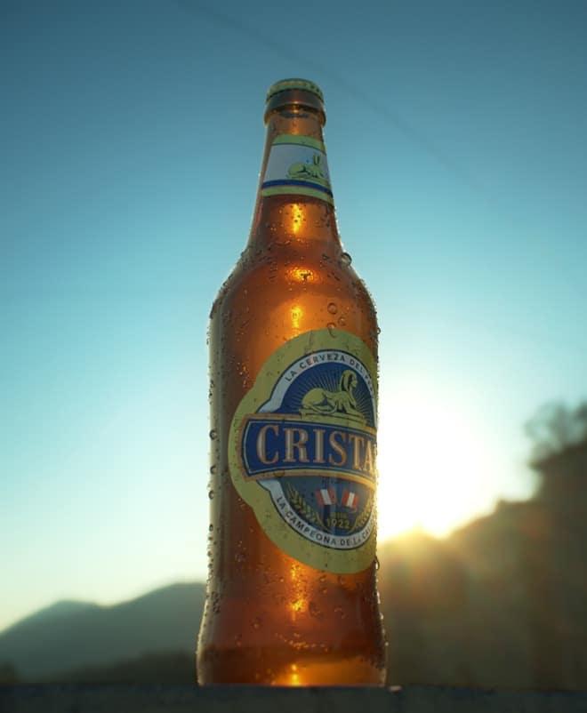 cerveza cristal 3d